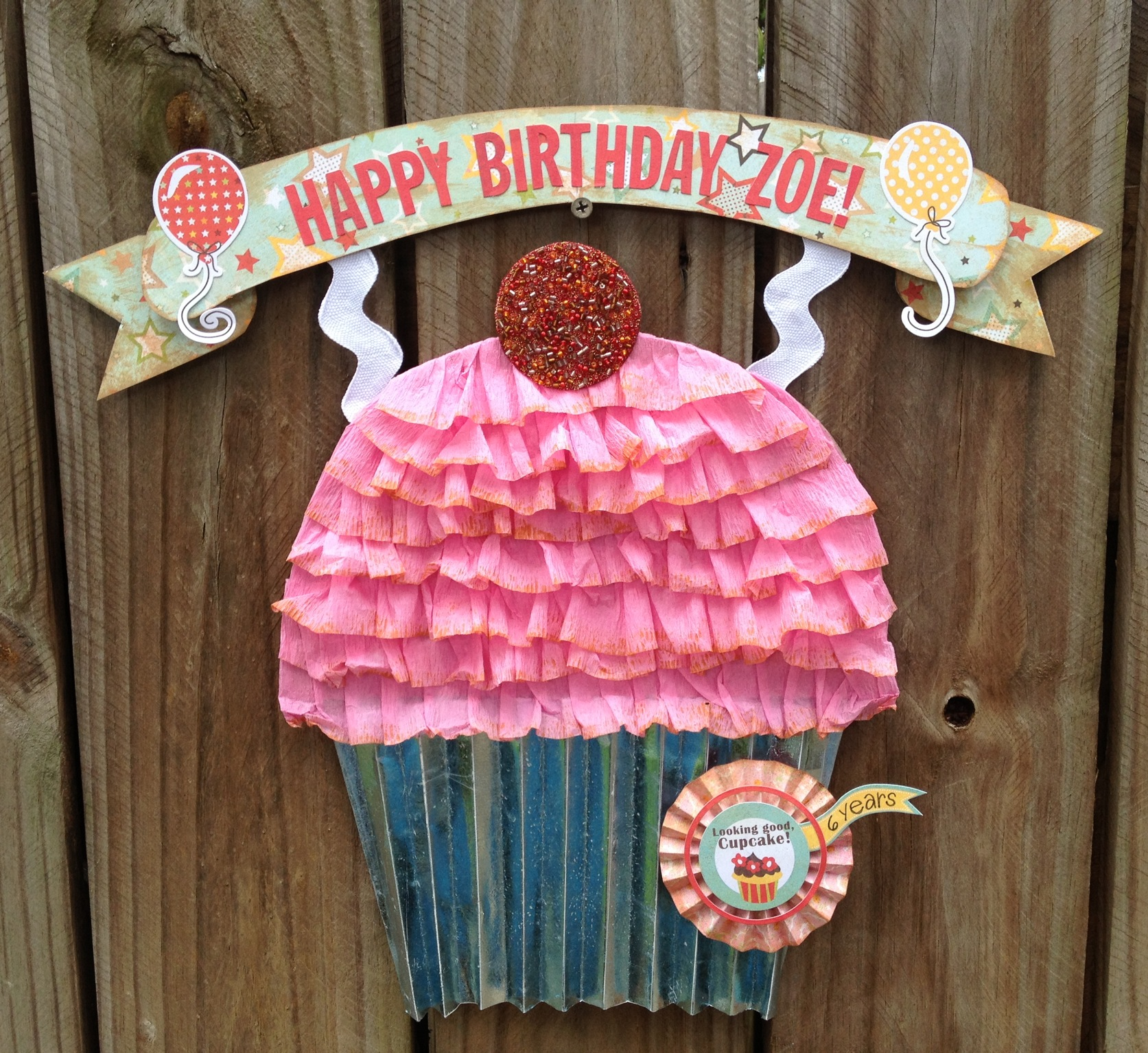 Party Decor Birthday Cupcake Door Hanging Kool Tak