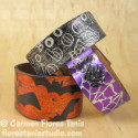 Trio of Foiled Halloween Wristbands