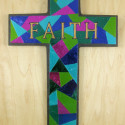 Foiled Faux Stained Glass Cross