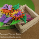 Springtime Decorated Wooden Popsicle Stick Box