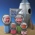 Father's Day Rocketship Family Portrait