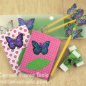 Back to School Glittery Butterfly Pencil Box Set