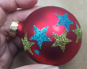 Kool Tak Custom Ornaments Red Glittered CWindham